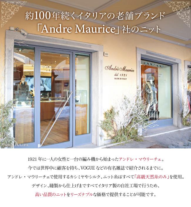 約100年続くイタリアの老舗ブランド「Andre Maurice」社のニット