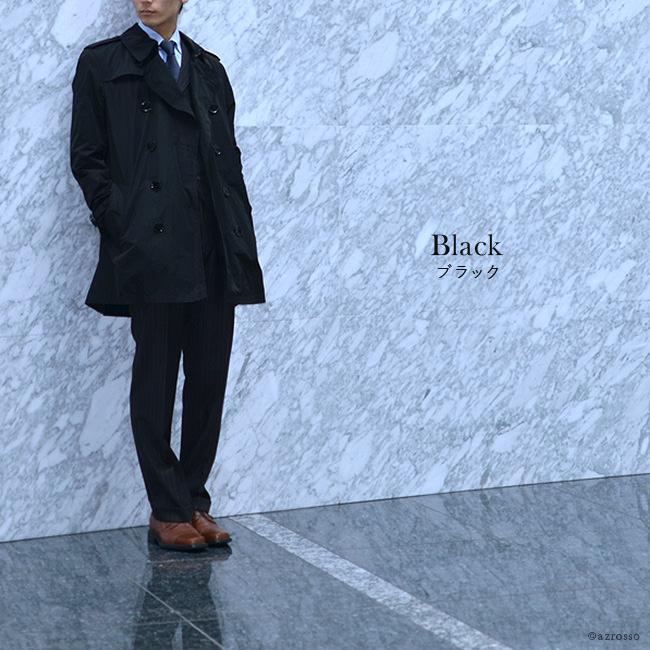 バーバリーブリット トレンチコート ダブルボタン メンズ  3801 BURBERRY BRIT バーバリーチェック  ハーフコート メンズコート ブラック 黒 ネイビー ベージュ 詳細