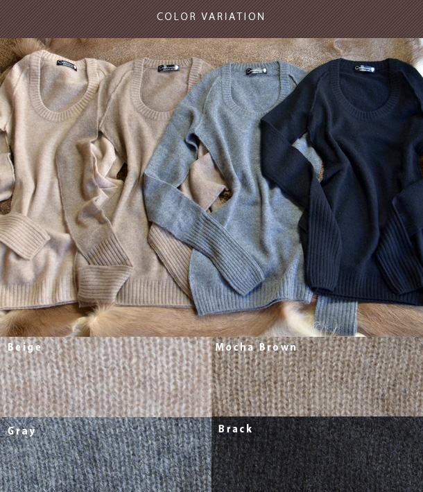 カシミヤ100%をどうせ着るなら、他人と同じデザインじゃつまらない。カシュビアンコ【Cashbianco】カシミヤ/カシミアセーター/ちくちくしない/カシミヤセーター/ニット/ロング丈/ロング/ブランド/丸首/通販/レディース/ブラウン/グレー/ベージュ/ カラーバリエーション