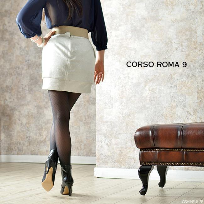 一流の品質CORSOROMA9(コルソローマ9)イタリア製レザーブーティ ピンヒール 9cm|本革 ブーティー アンクルブーツ ハイヒール フォーマル ビジネス 痛くない 歩きやすい 疲れにくい きれいめ セレブ ブラック 黒 送料無料 モデル写真2