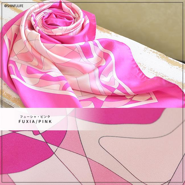 花柄 シルクツイル フレイコモ スカーフ 正方形 大判 88x88 シルク100% イタリア製 シルクスカーフ 巻き方や結び方を紹介 敬老の日 母の日 誕生日 プレゼント 薔薇 バラ ローズ freycomo フューシャ・ピンク FUXIA/PINK