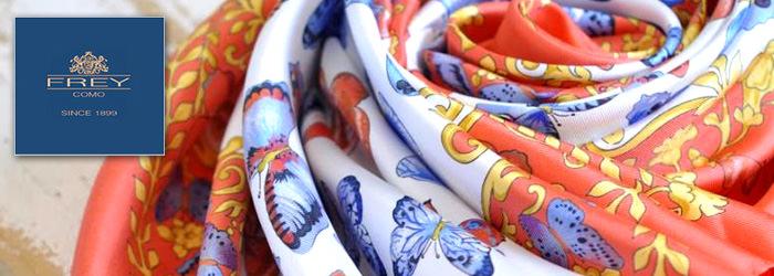 FREY COMOは、ヨーロッパの繊維市場で全体のシルク製品の約80%を占めるイタリアのコモにおいて、100年以上の歴史と品質をもつファクトリーブランド。現在も、100% MADE IN ITALYの品質を保つために、ファミリーでデザイン、縫製、仕上げまですべて一貫して行う徹底ぶり。イタリアの熟練した職人たちが作り上げるファーストクラスのスカーフやストールは世界中のカスタマーに支持され、愛されています。