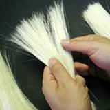 良質な毛を厳選する「ウス抜き」 画像