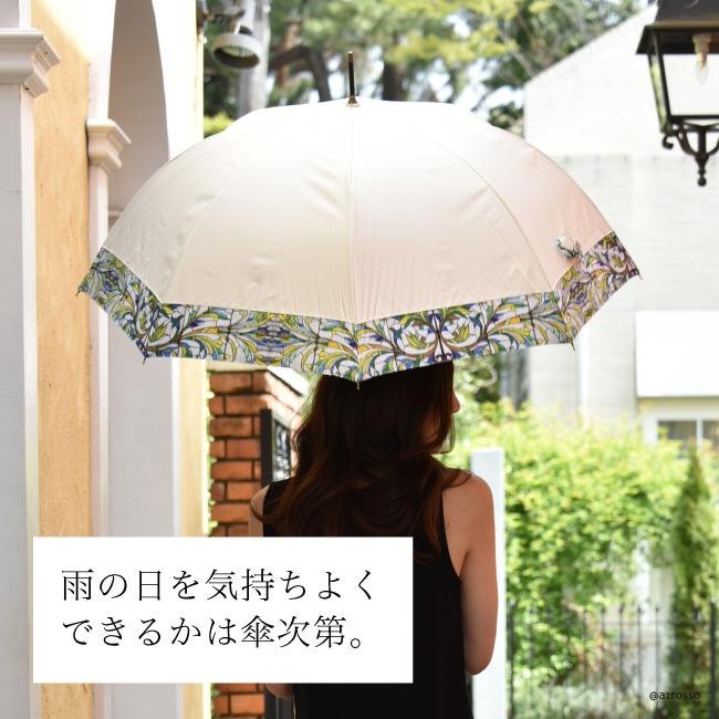 大人の女性の為のクールビューティな雨傘ブランド Lluvia rain(ルビアレイン)の晴雨兼用ワンタッチジャンプ傘「フレアグラス」