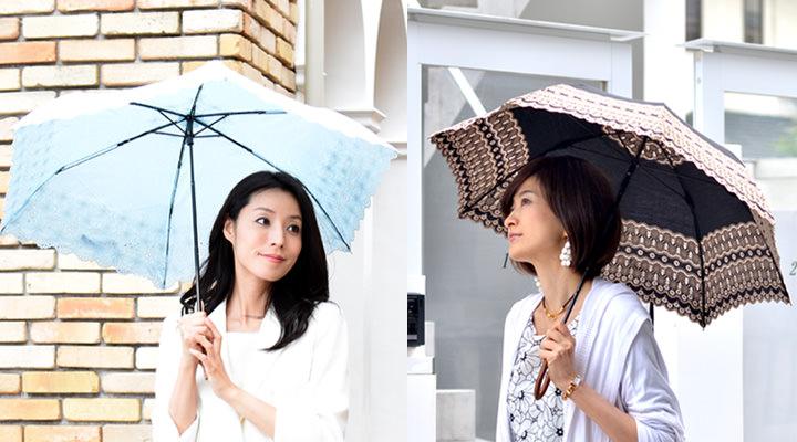 日傘のラッピングとギフトカード画像