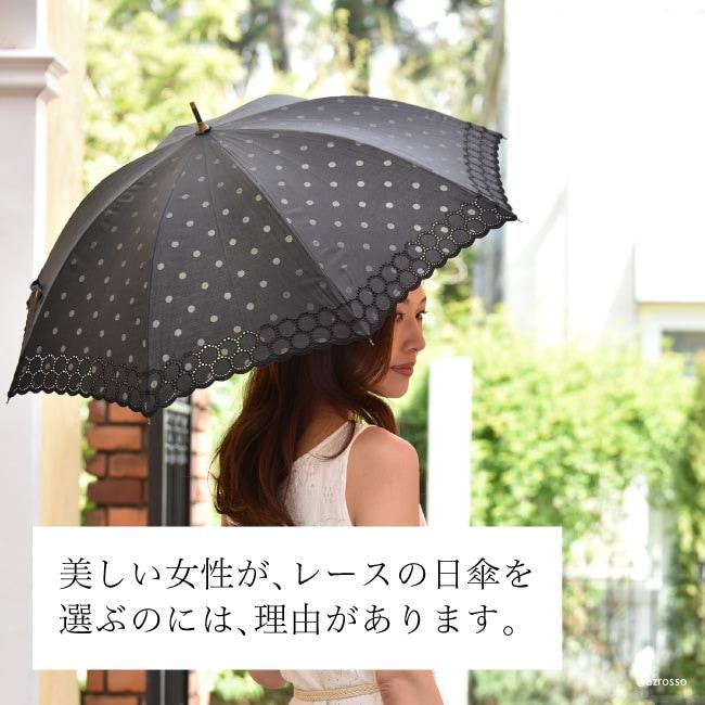 優美な日傘ブランドMalagavaria(マラガバリア)ドット柄の布製×レース刺繍が美しい日傘「オパールカットレース」