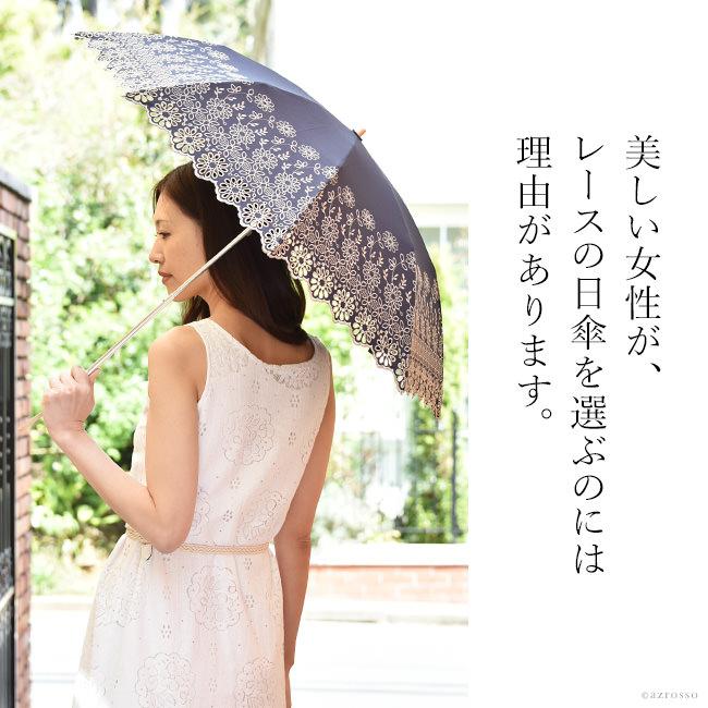 優美な日傘ブランドMalagavaria(マラガバリア)の花柄×レース刺繍が美しい折り畳み日傘「アラビックレース」
