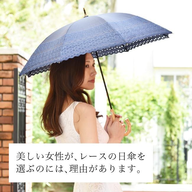 優美な日傘ブランドMalagavaria(マラガバリア)トライバル柄の布製×レース刺繍が美しい日傘「ロールカットレース」