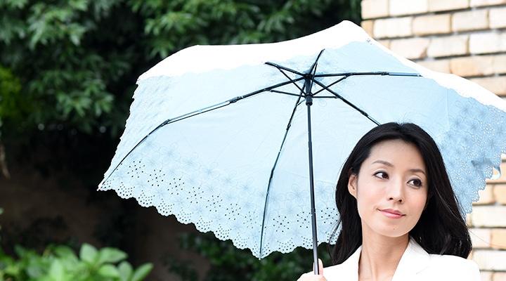 レース刺繍の日傘の写真