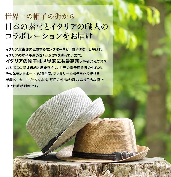 世界一の帽子の街から、あなたの頭にフィットする日よけハットをお届け。イタリア北東部に位置するモンタポーネは「帽子の街」と呼ばれ、イタリアの帽子生産のなんと90%を担っています。イタリアの帽子は世界的にも最高級と評価されており、いわばこの街は伝統と歴史を持つ、世界の帽子産業界の中心地。