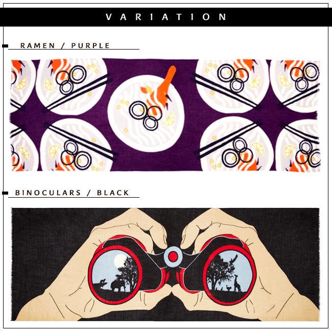 RAMEN BINOCULARS  YARNZ ヤーンツ カシミア ウール 長方形 大判 ストール New York 正規品 メンズ レディース ユニセックス 薄手 双眼鏡 ラーメン 敬老の日 母の日 誕生日 プレゼント 送料無料 カラーバリエーション