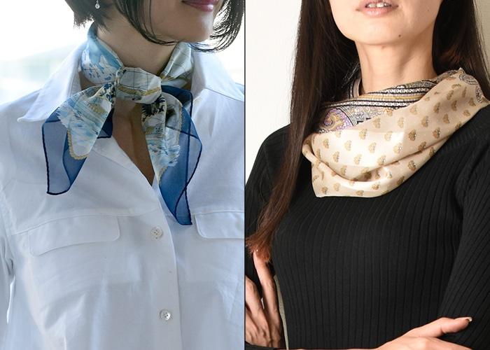 シルクスカーフ ミニサイズ
