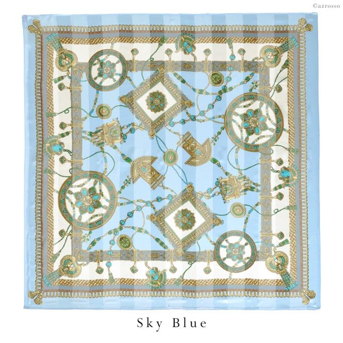 横浜スカーフレリーフミュゼ モデル写真 スカイブルー