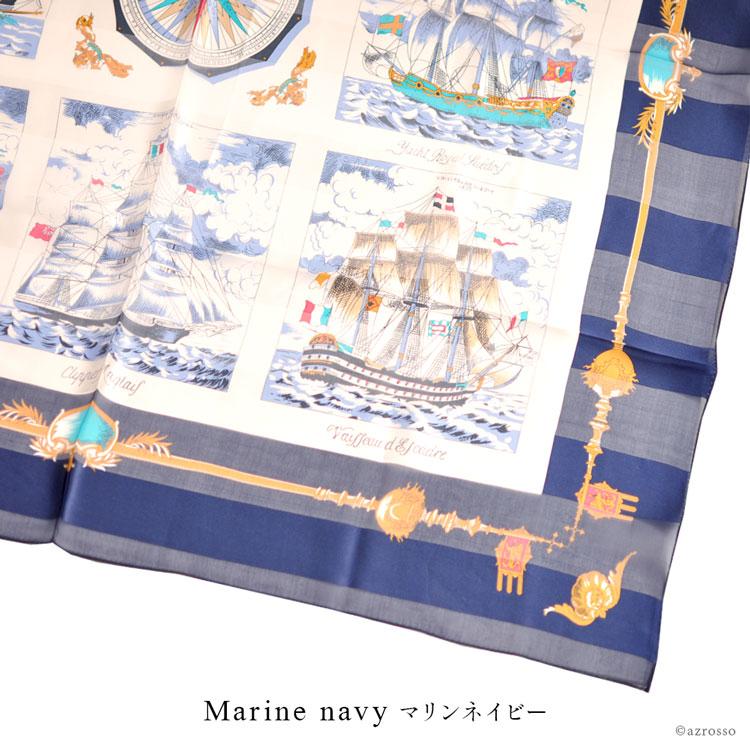 横浜スカーフ コレクション マリンネイビー