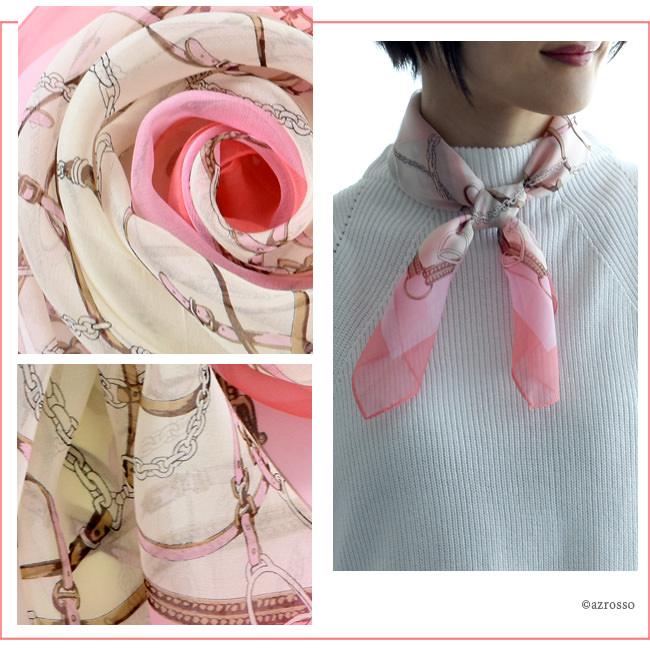 横浜スカーフ ブリティッシュベルト ピンクのモデル写真