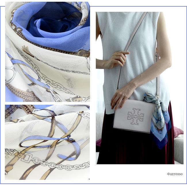 横浜スカーフ ブリティッシュベルト ネイビーのモデル写真