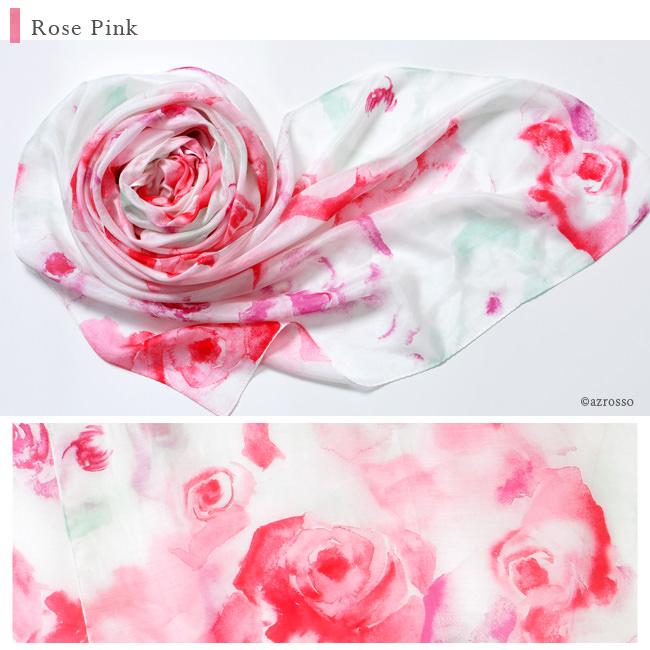 横浜スカーフ ブライトローズ ローズピンクの写真
