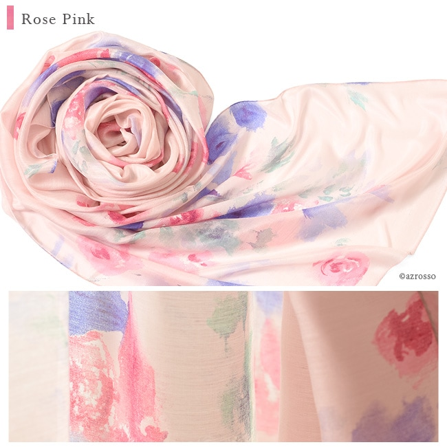 横浜スカーフ ローズシック ローズピンクの写真