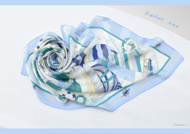 横浜スカーフ ブルーの写真1
