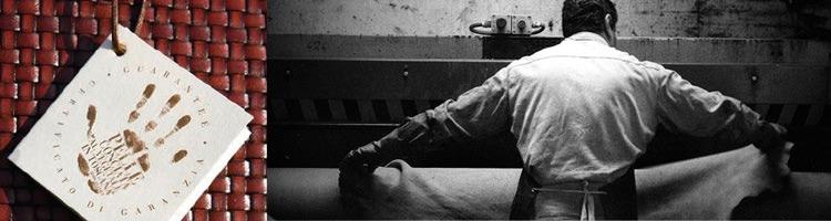 イタリアの革なめし職人の写真