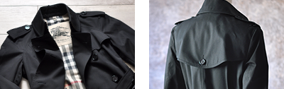 イギリスを代表するバーバリー(BURBERRY)正規品トレンチコート ロング/ブラック/黒/ベージュ/