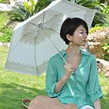 日傘を活用して体感温度を下げる 画像