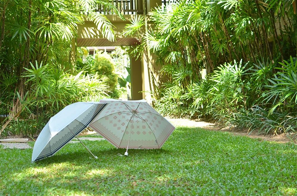 プレミアムホワイト日傘写真