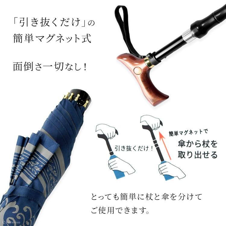 耐久性も抜群。ステッキとしては100キロまでの重さに耐えられます。